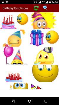 Birthday Emoticons screenshot 1