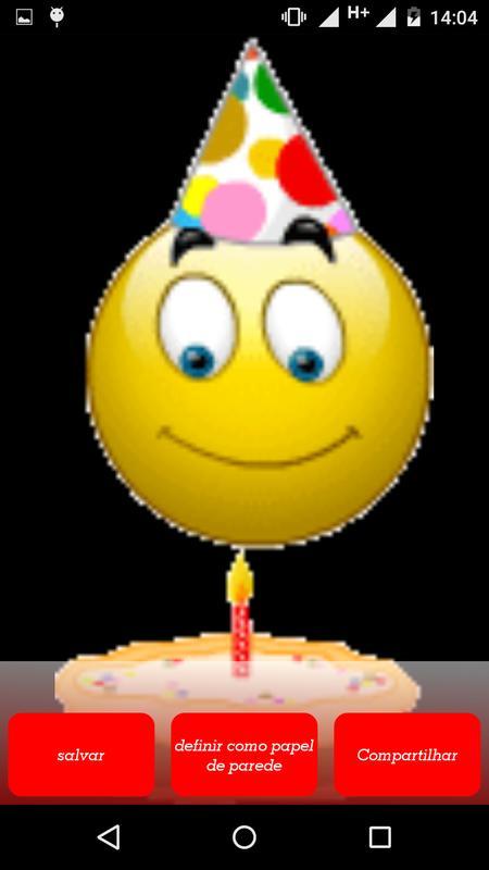 Birthday Emoticons Poster Screenshot 1 2
