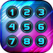 Neon Colors Keypad Lock Screen icon