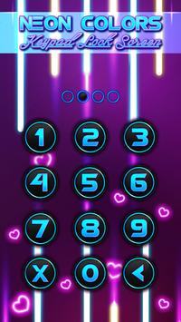 Neon Colors Keypad Lock Screen apk screenshot