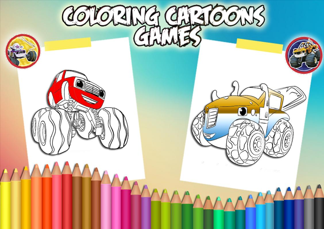 how to color blaze and monster machines for android apk download