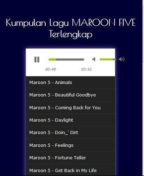 Lagu MAROON FIVE Lengkap screenshot 1