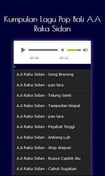 lagu pop bali - anak agung raka sidan apk screenshot