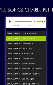 CHARLIE PUTH's Most Popular Song Collection apk screenshot