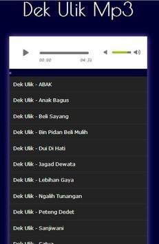 Kumpulan Lagu Dek Ulik Terlengkap Mp3 apk screenshot