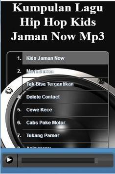 Kumpulan Lagu Hip Hop Kids Jaman Now Mp3 captura de pantalla 8
