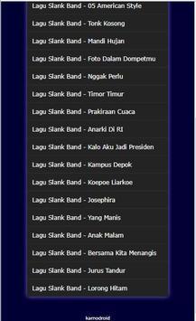 Kumpulan Lagu Slank Band Hits apk screenshot