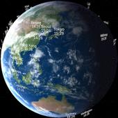 World Time Globe 世界時計地球儀 icon