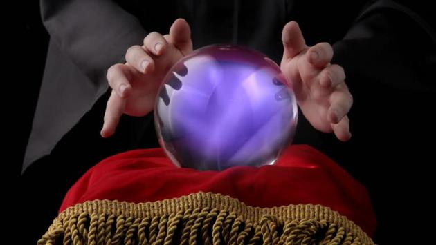 Real fortune teller & Crystal ball poster