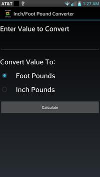 Inch/Foot Pound Converter poster