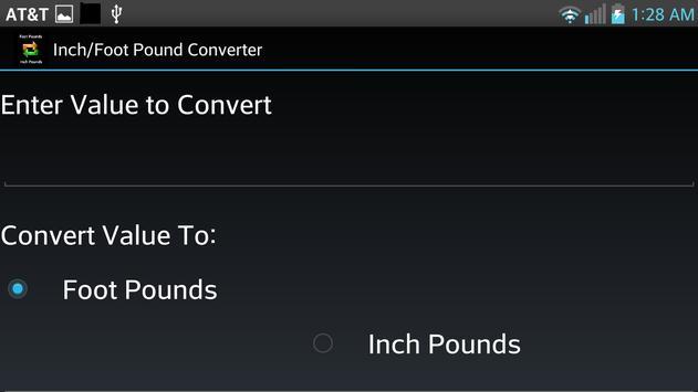 Inch/Foot Pound Converter screenshot 1