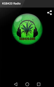 KGB420 Radio poster