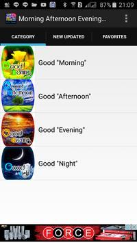 Good Morning Afternoon Evening and Night screenshot 1