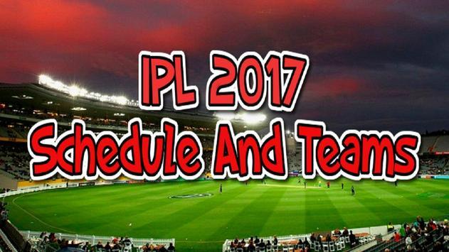 IPL Schedule 2017 poster