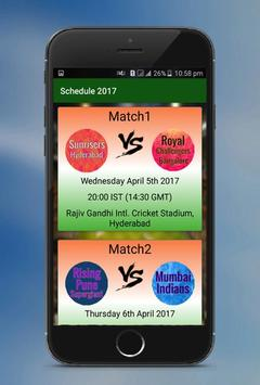 IPL Schedule 2017 apk screenshot