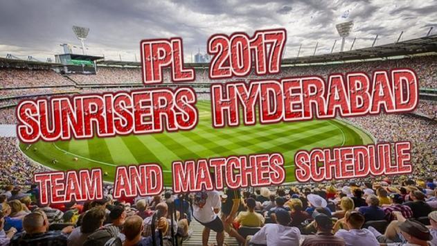 Sunrisers Hyderabad  2017 poster