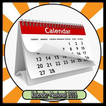 Kalender Nasional 2016 poster