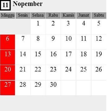 Kalender Nasional 2016 screenshot 1