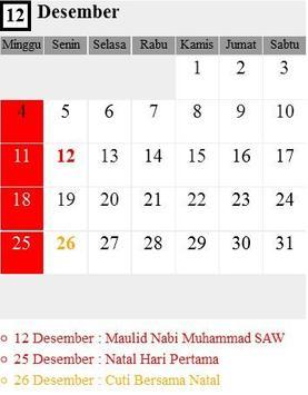 Kalender Nasional 2016 screenshot 2