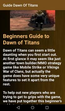 Guide Dawn Of Titans apk screenshot