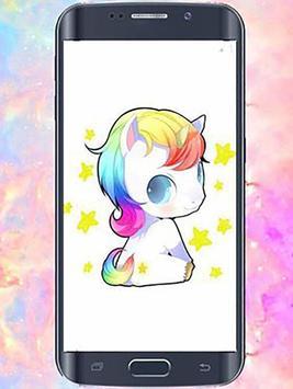 cute Kawaii Unicorn wallpapers poster