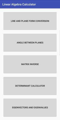 Linear Algebra Calculator for Android - APK Download