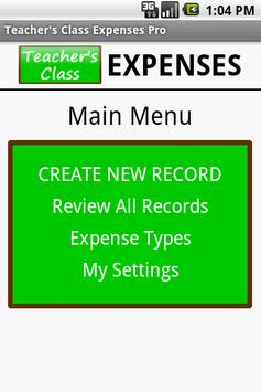 Teacher's Class EXPENSES FREE poster