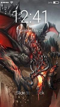 Magic Dragon Flame PIN Lock Screen poster