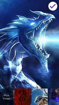Magic Dragon Flame PIN Lock Screen apk screenshot