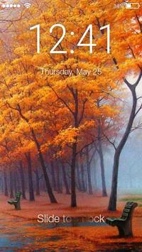 Autumn Yellow Leaf PIN  Lock Screen poster