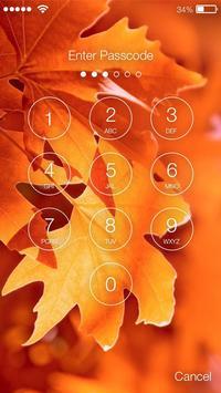 Autumn Yellow Leaf PIN  Lock Screen apk screenshot