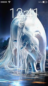 Beloved Unicorn Screen Lock poster