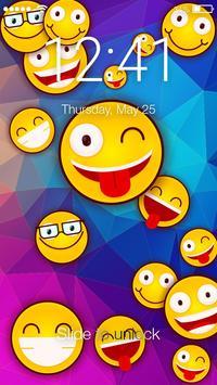 Cute Emoji Smile  Screen Lock poster