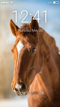 Horse PIN Screen Lock poster