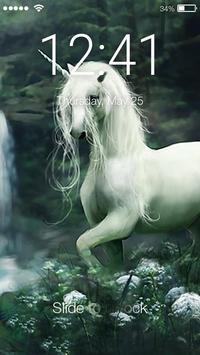 Runing Unicorn Lock Screen poster