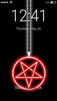 Satan Pentagram Lock Screen poster