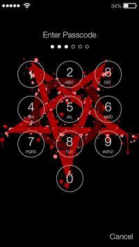 Satan Pentagram Lock Screen screenshot 1