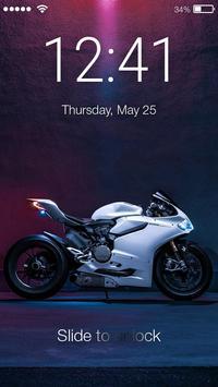 Sport Bike Love Lock Screen poster
