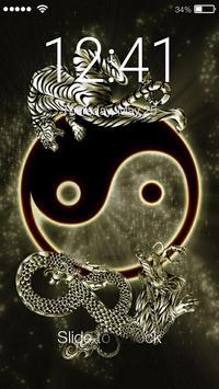Yin Yang PIN Lock Screen poster