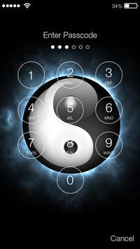 Yin Yang PIN Lock Screen apk screenshot