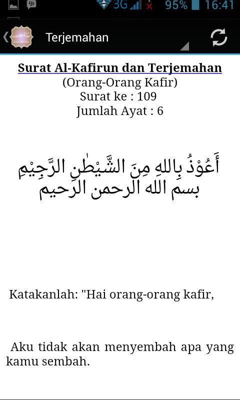 Surah Al Kafirun Terjemahan For Android Apk Download