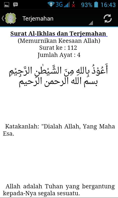 Surah Al Ikhlas Terjemahan For Android Apk Download