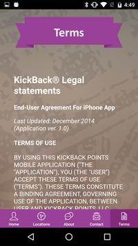 KickBack Points apk screenshot