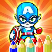 Kids Corloring Book SuperHero icon