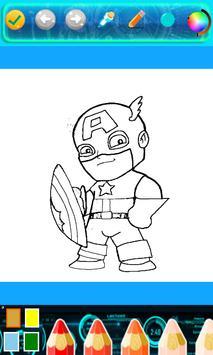 Kids Corloring Book SuperHero screenshot 3