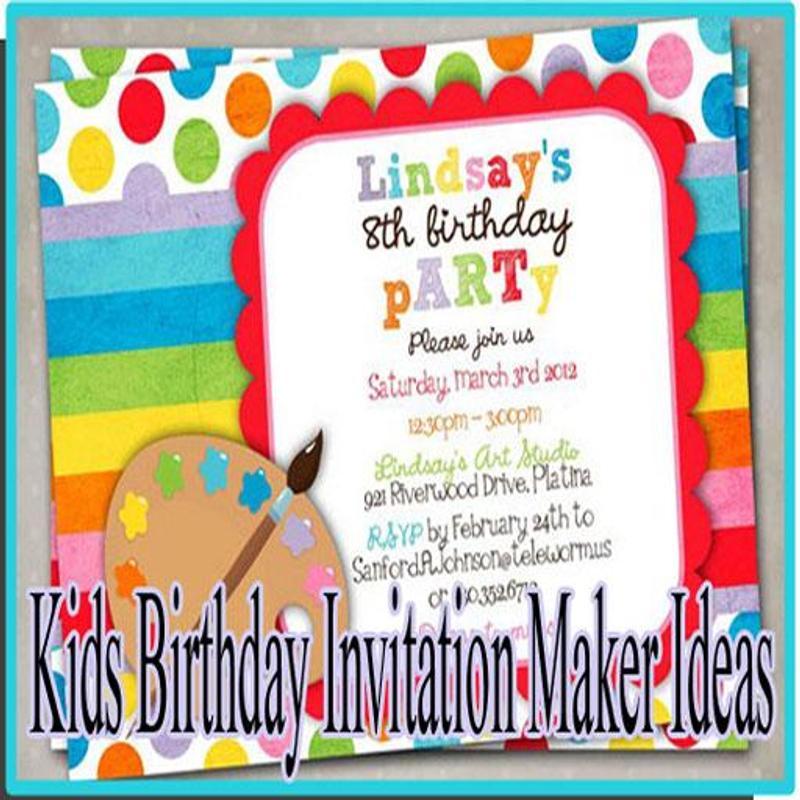 Kids birthday invitation maker ideas apk download free social app kids birthday invitation maker ideas poster stopboris Image collections