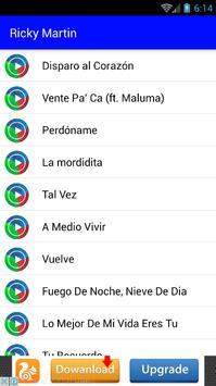 Ricky Martin Musica Letras screenshot 2