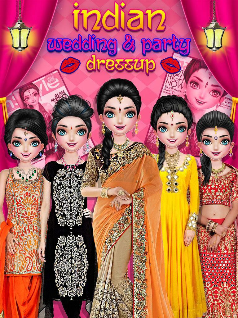 Indian Wedding Party Dressup Fashion