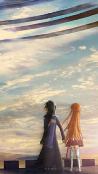 Kirito and Asuna Wallpaper poster