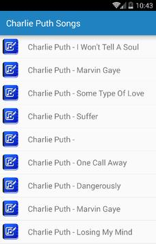 Charlie Puth - One Call Away apk screenshot